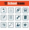 School icon set vector image vector image