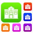 school set color collection vector image