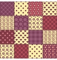 Seamless patchwork claret color pattern 2 vector image vector image