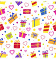 seamless pattern with gifts many gift vector image