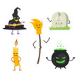 set of characters for halloween 2 vector image vector image