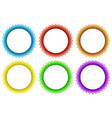 six round frame in different colors vector image