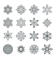 Snowflakes geometric abstract geometry Cristmas vector image vector image