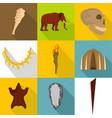 spelaean icons set flat style vector image vector image