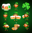 st Patricks Days set vector image