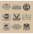 Steak house vintage isolated label set vector image vector image