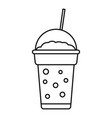 strawberry smoothie icon outline style vector image