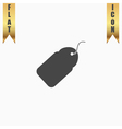 Tag flat icon vector image vector image