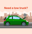 tow truck advertising banner flat template