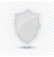 transparent shield safety glass badge icon vector image vector image