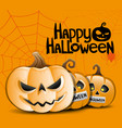 turning into a halloween pumpkin vector image vector image