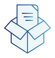 unpacking flat icon box unpack blue icons in vector image