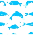 Watercolor seamless pattern with sea fish vector image vector image