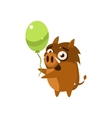 Wild Pig Party Animal Icon vector image vector image