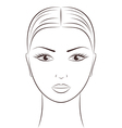 Women s face vector image vector image