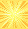 yellow pop art background rays vector image vector image