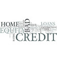 z home equity loans bad credit text word cloud vector image vector image