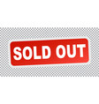 sold out red flat vector image