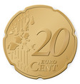 20 euro cent vector image