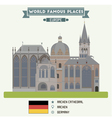 aachen cathedral vector image vector image