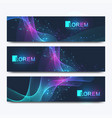 abstract set of modern web site banners vector image