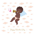 African cupid playing music of love