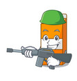 army package juice character cartoon vector image vector image