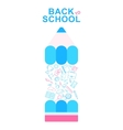 back to school pencil lines icons vector image vector image
