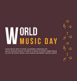 background world music day collection style vector image vector image