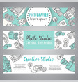 banners for photo studio or photographer hand vector image vector image