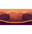 Biautiful landscape game background with vector image