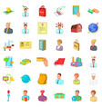 career in company icons set cartoon style vector image vector image
