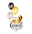 carnival invitation vertical vector image
