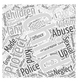 child protection Word Cloud Concept vector image vector image