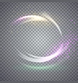 circular flare light effect vector image vector image