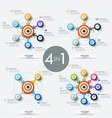 collection of 4 modern infographic design vector image vector image