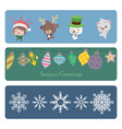 collection of colorful christmas banners vector image vector image