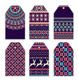 collection of price tags with sweater ornament vector image vector image