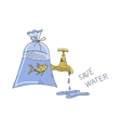 Colored doodle save water concept vector image vector image