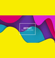 colorful gradient abstract background fluid vector image vector image