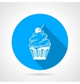 Contour icon for cupcake with cream vector image vector image