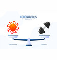 coronavirus or workout gym creative concept of vector image
