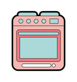 cute oven graphic design vector image vector image
