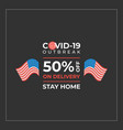 delivery discount during pandemic with usa flags vector image vector image
