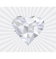 diamond heart s vector image