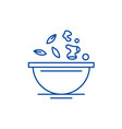 diet food line icon concept diet food flat vector image vector image