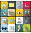 Disabled people care set flat style vector image