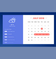 done day planner and calendar app ui ux design ui vector image vector image