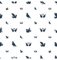dove icons pattern seamless white background vector image vector image