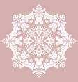 elegant round white ornament in classic vector image vector image